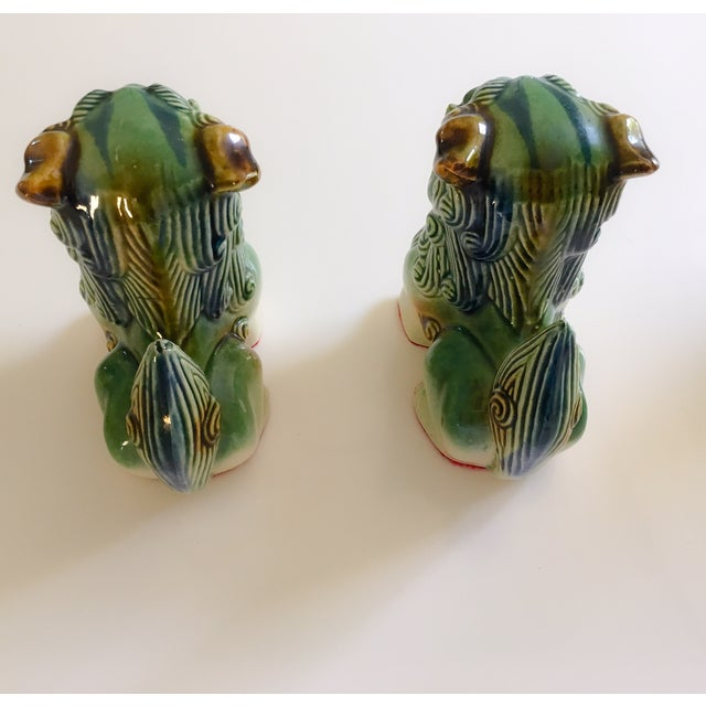 Ceramic Foo Dog Figurines - Pair - Image 8 of 10