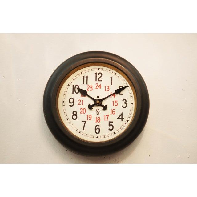 Metal Bauhaus Workshop Wall Clock by Siemens Halske, 1930s For Sale - Image 7 of 7