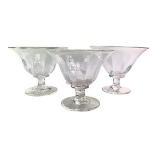 Simon Pearce Shelburne Footed Dessert Crystal Bowls- Set of Four For Sale