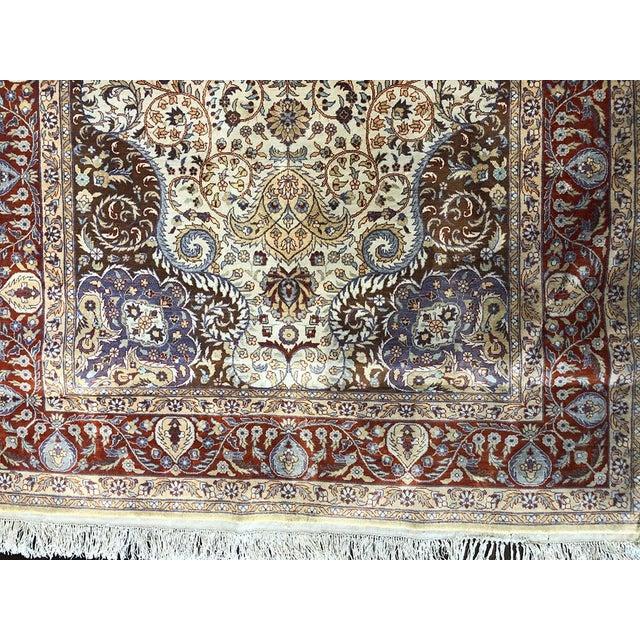 Contemporary Contemporary Hereke Style 700 Kpsi Silk on Silk Rug For Sale - Image 3 of 7