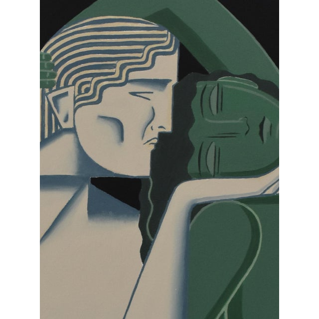 "Original Art Deco painting by Mike Willcox. 36""x48"" Acrylic on Canvas. 2"" depth to the canvas with the sides painted."