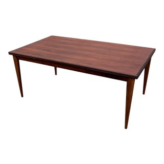 Niels Moller Styled Danish Rosewood Refractory Dining Table For Sale