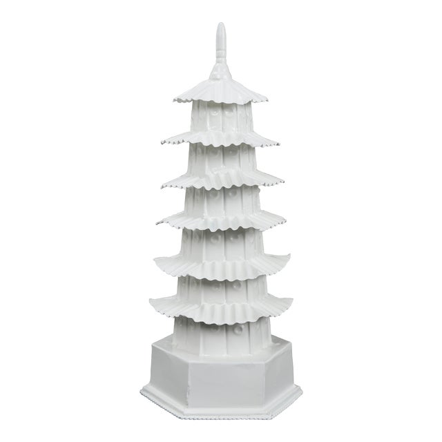 1970s Vintage White Pagoda For Sale