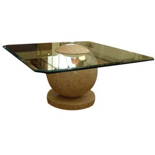 1960s Tessellated Marble Sphere Coffee Table For Sale