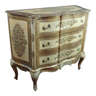 1940s Italian Florentine Gilt Chest of Drawers For Sale