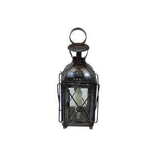 1880s Antique Tin Candle Lantern For Sale