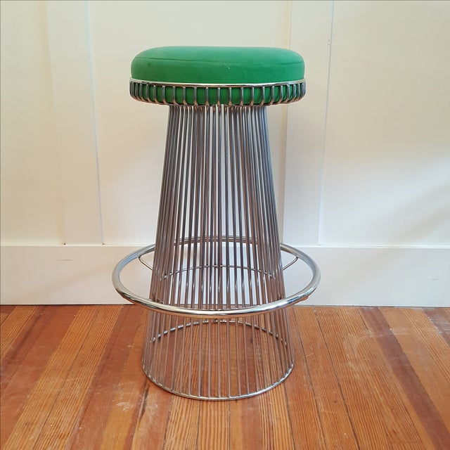 Mid Century Platner Style Bar Stools & Table Set - Image 5 of 11
