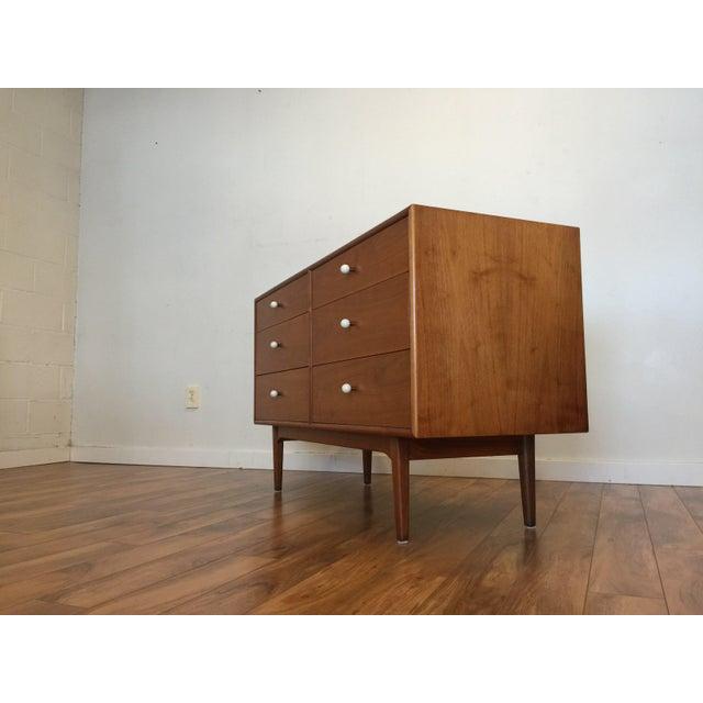 Brown Drexel Declaration 6 Drawer Dresser For Sale - Image 8 of 11