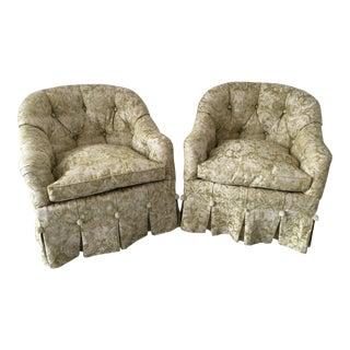 Circa 1960s Baker Custom Down Chairs - A Pair
