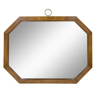 Large Horizontal Octagonal Mirror For Sale
