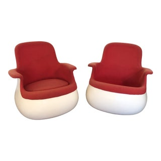 1973 Space Age Knoll Held Culbuto Chairs - a Pair For Sale