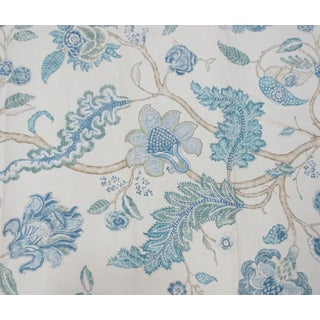 "French Colefax & Fowler ""Pennryn"" Tree of Life Linen Print Fabric - 4.5 Yards"