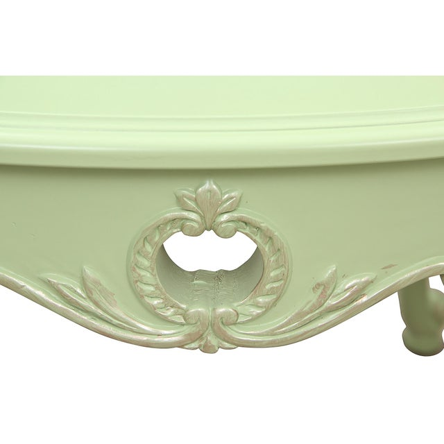 Queen Anne 1970s Queen Anne Apple Green Side Tables - a Pair For Sale - Image 3 of 7