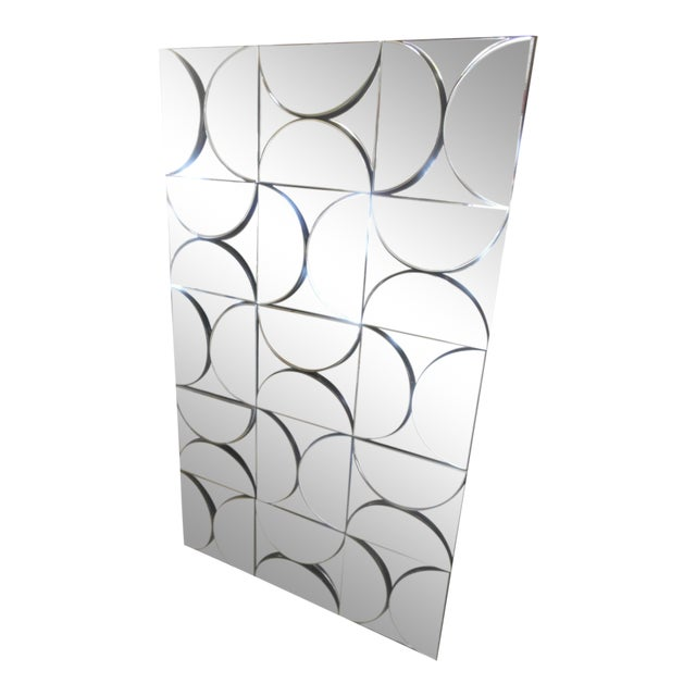 Mid-Century Modern Brutalist Inspired Fish Scales Wall Mirror - Image 1 of 5