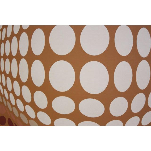 Op Art Letterman Oil on Canvas Geometric Op Art For Sale - Image 3 of 8