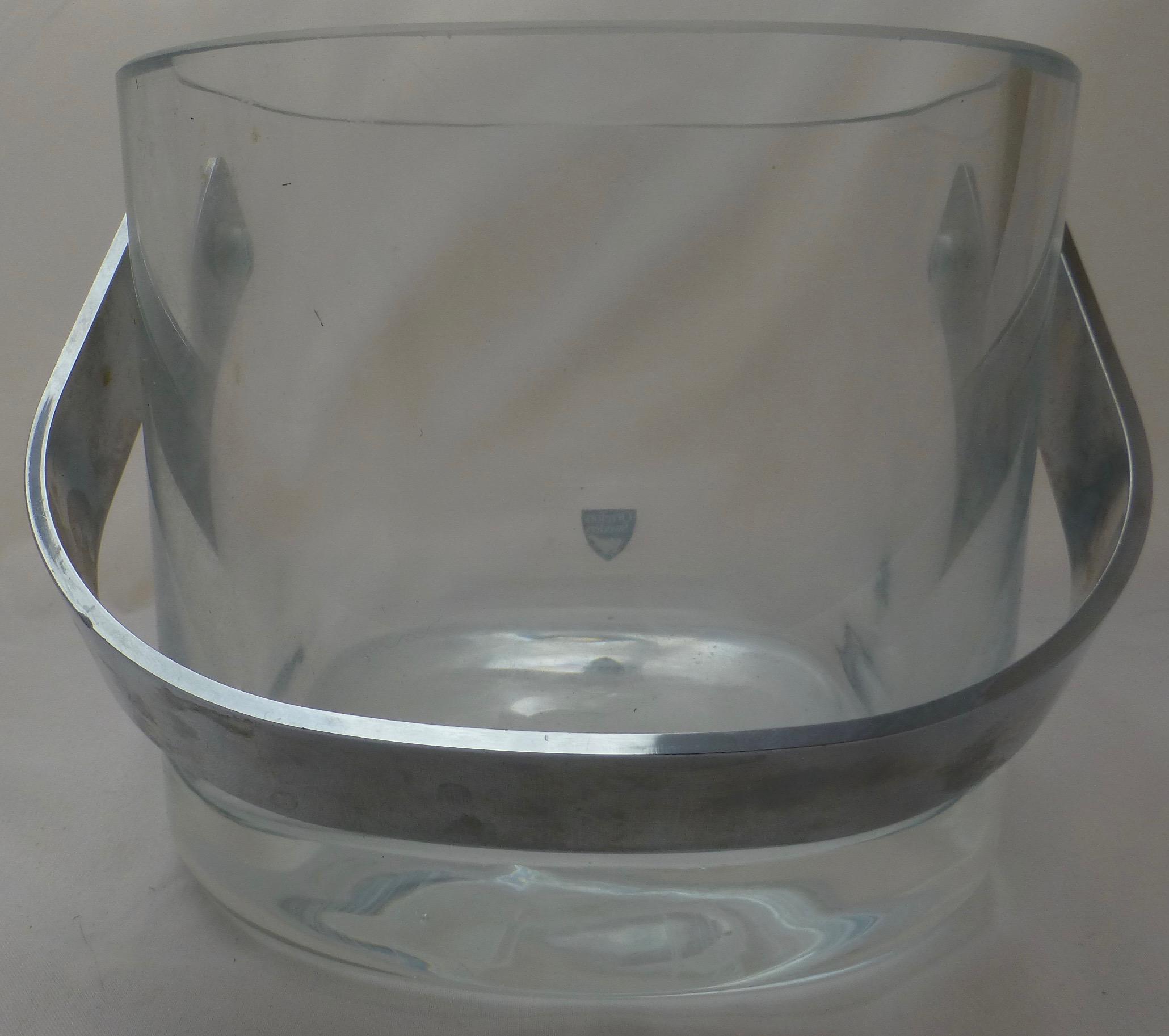 Orrefors Mid Century Modern Glass U0026 Chrome Ice Bucket   Image 5 Of 10