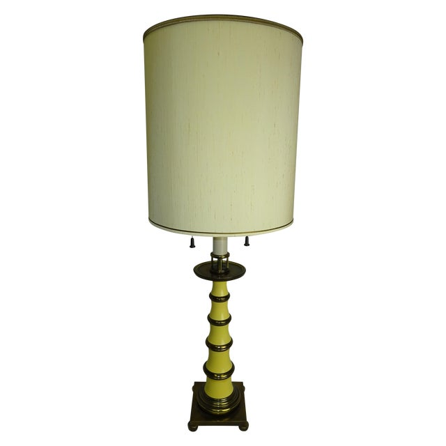 Faux Bamboo Enamel Table Lamp c1960 - Image 1 of 9