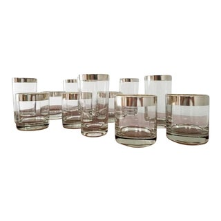 Dorothy Thorpe Mint High Ball & Low Ball Glasses - Set of 12