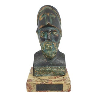 Bronze Bust on Marble For Sale