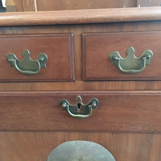 1800's Hand Made Chippendale Mahogany Desk For Sale - Image 4 of 10