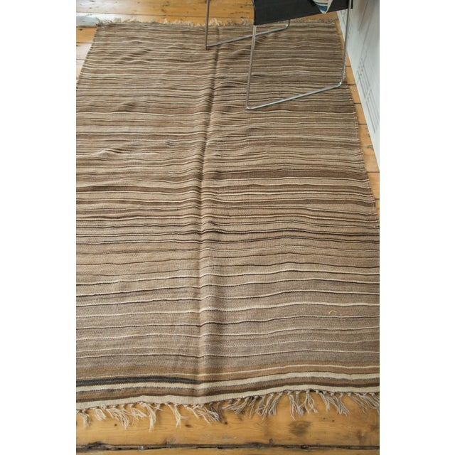 "Vintage Moroccan Kilim Rug - 4'2"" X 6'5"" For Sale - Image 4 of 6"