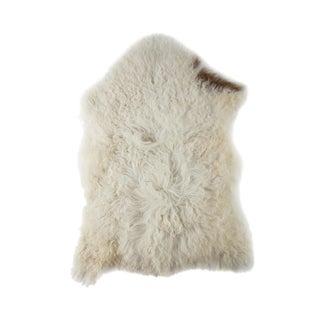 "Contemporary Long Soft Wool Sheepskin Pelt - 2'0""x3'0"" For Sale"
