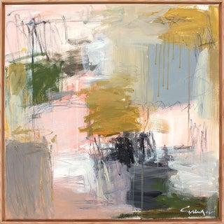 Lesley Grainger 'Blushing' Abstract Framed Painting