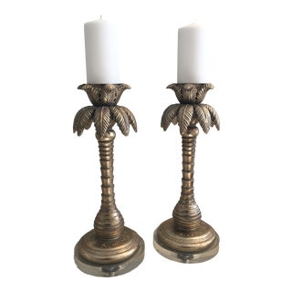 Perdido Beach Candleholders - A Pair For Sale