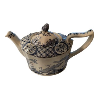 Old Chelsea Blue & White Teapot For Sale