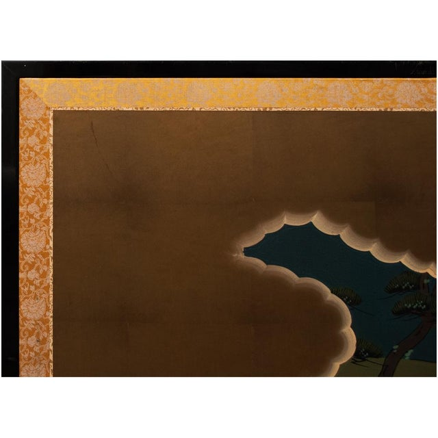 "Shōwa Era ""The Tale of Genji"" Japanese Byobu Screen For Sale - Image 10 of 13"