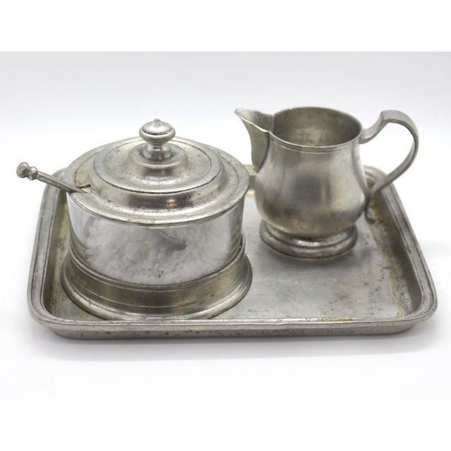 1990s Match Italian Pewter & Glass Jam or Sugar Jar With Spoon For Sale - Image 5 of 6