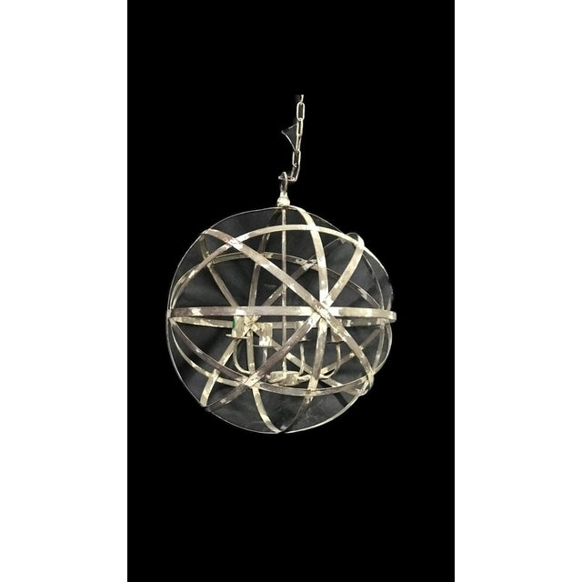 Old world Italian armillary chandelier....what could be better to hand over a dining table or a kitchen island.....a...