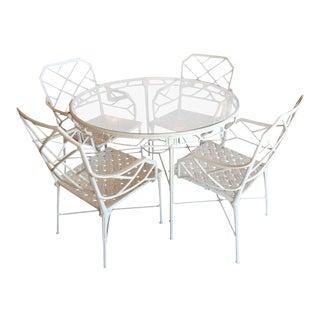 Brown Jordan Calcutta Faux Bamboo Table & Armchairs Patio Set