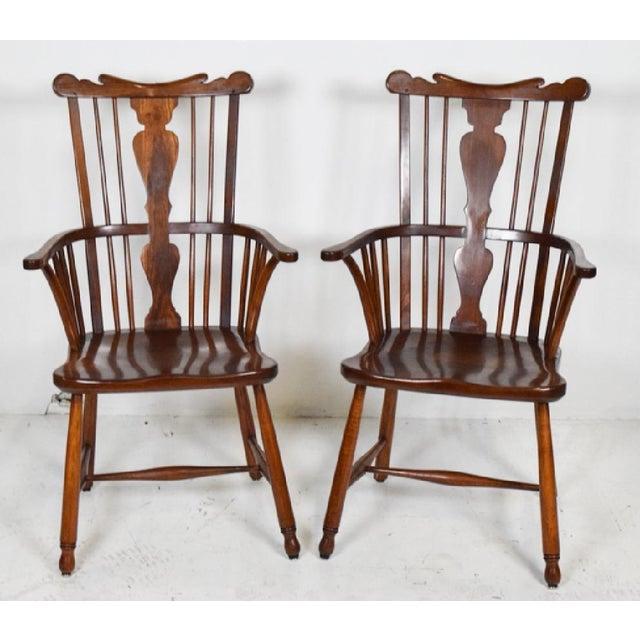 Stickley 1950s Vintage L.& j.g. StickLey Dining Room Chairs - Set of 6 For Sale - Image 4 of 12