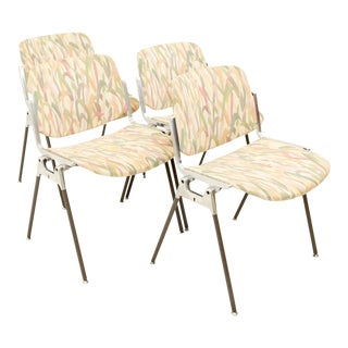 Vintage Mid Century Giancarlo Piretti for Anomina Castelli DSC 106 Stackable Chairs- Set of 4 For Sale