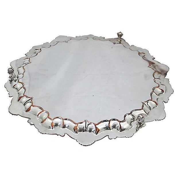 Oversize English Silver-Plate Salver - Image 4 of 5