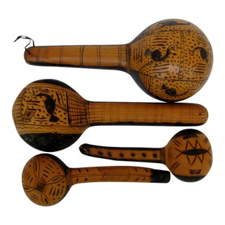African Gourd Ladles, Set of 4 For Sale