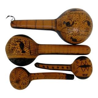 African Gourd Ladles, Set of 4