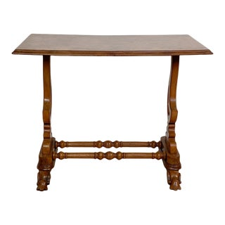 Walnut Writing Table, Italy Circa Early 20th Century For Sale