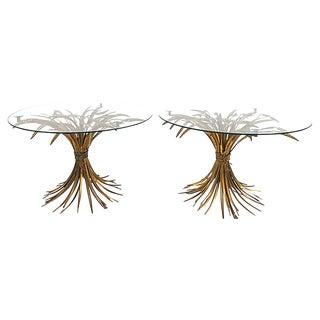 Sheaf of Wheat Side Tables, Pair For Sale