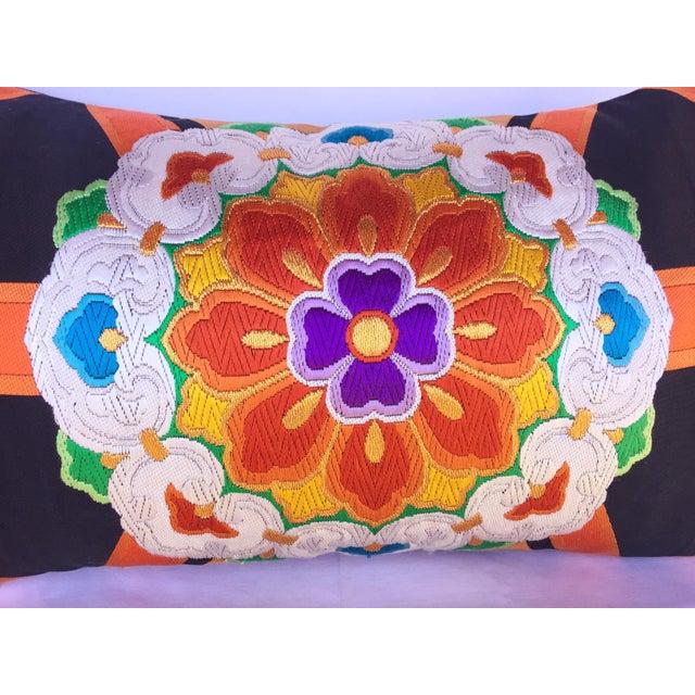 Vintage Japanese Obi Throw Pillow - Image 3 of 4