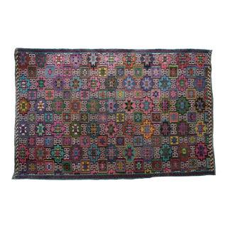Anatolia Kilim Turkish Embroidery Rug- 7′ × 10′8″ For Sale