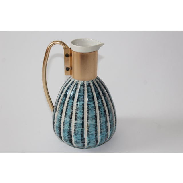 1957 Vintage C Miller Mid Century Ceramic Warming Carafe Decanter - Image 5 of 10