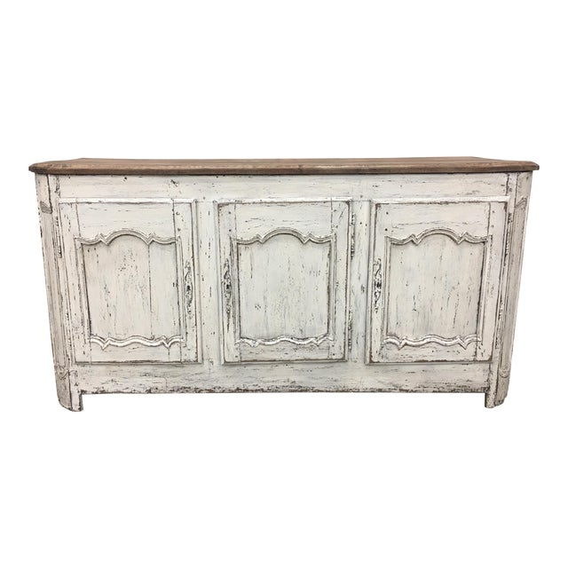 18th C French Provencal Three Door Painted Enfilade Sideboard For Sale