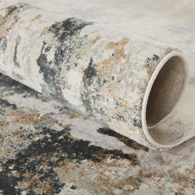 Jaipur Living Lynne Abstract White Gray Runner Rug 3'X12' For Sale In Atlanta - Image 6 of 12