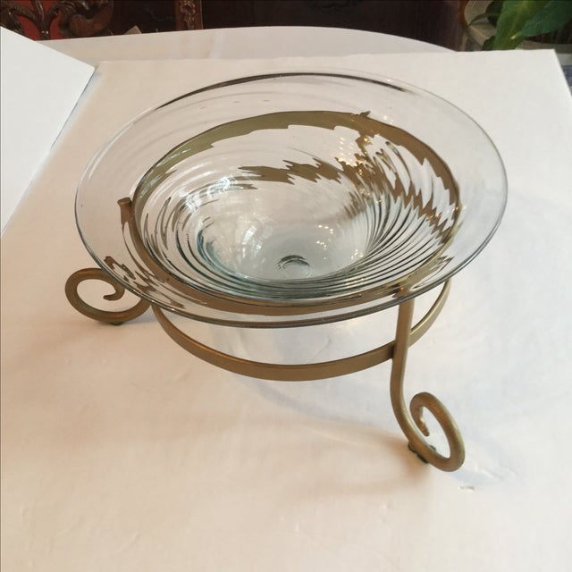 Art Glass Bowl For Sale - Image 5 of 11