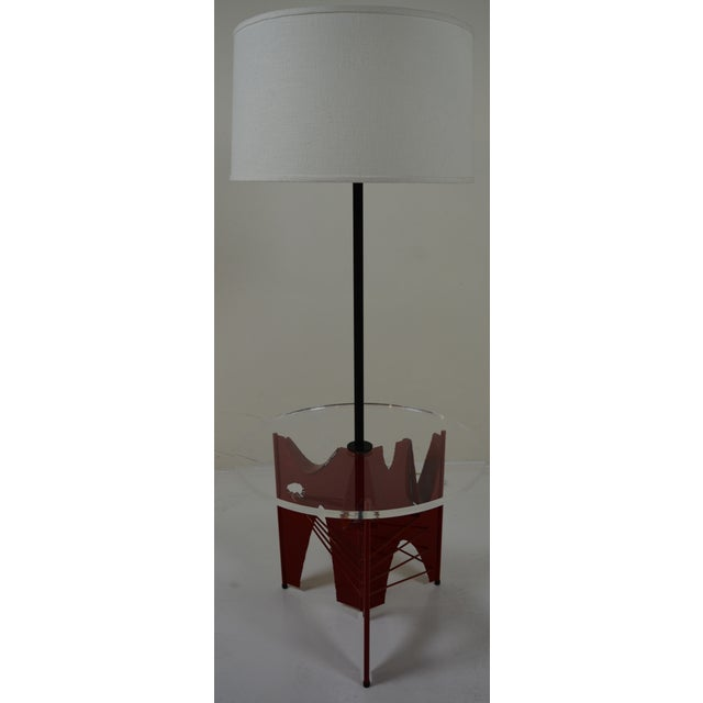 Harry Balmer Brutalist Floor Lamp With Table - Image 2 of 10