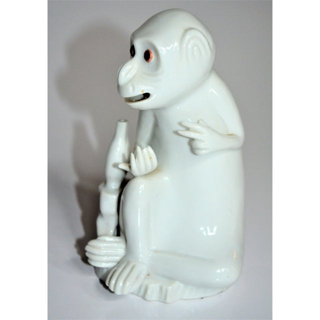 Vintage Italian White Porcelain Monkey Figurine For Sale In Houston - Image 6 of 10