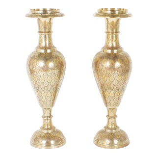 Mid-Century Brass Urns - A Pair For Sale