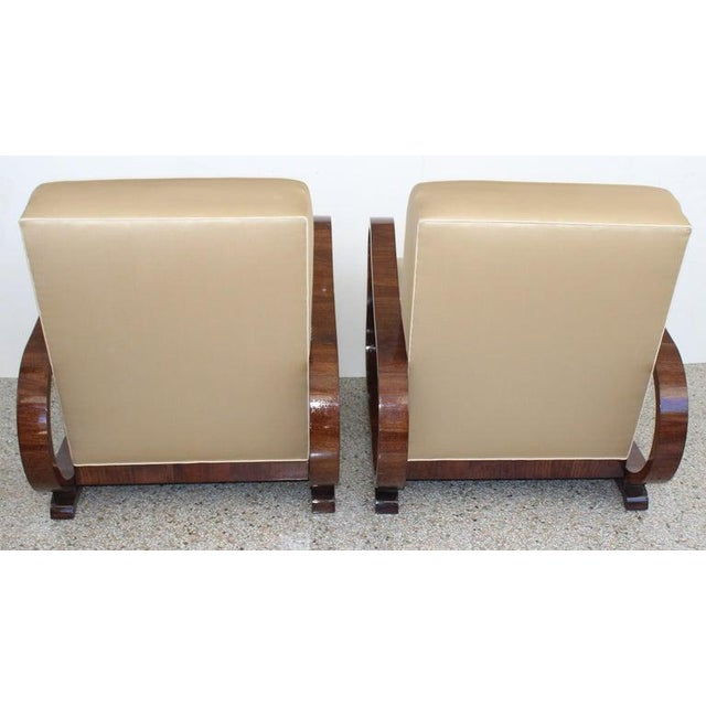 1930s Art Deco 1930s Jindřich Halabala Style Lounge Chairs - a Pair For Sale - Image 5 of 13